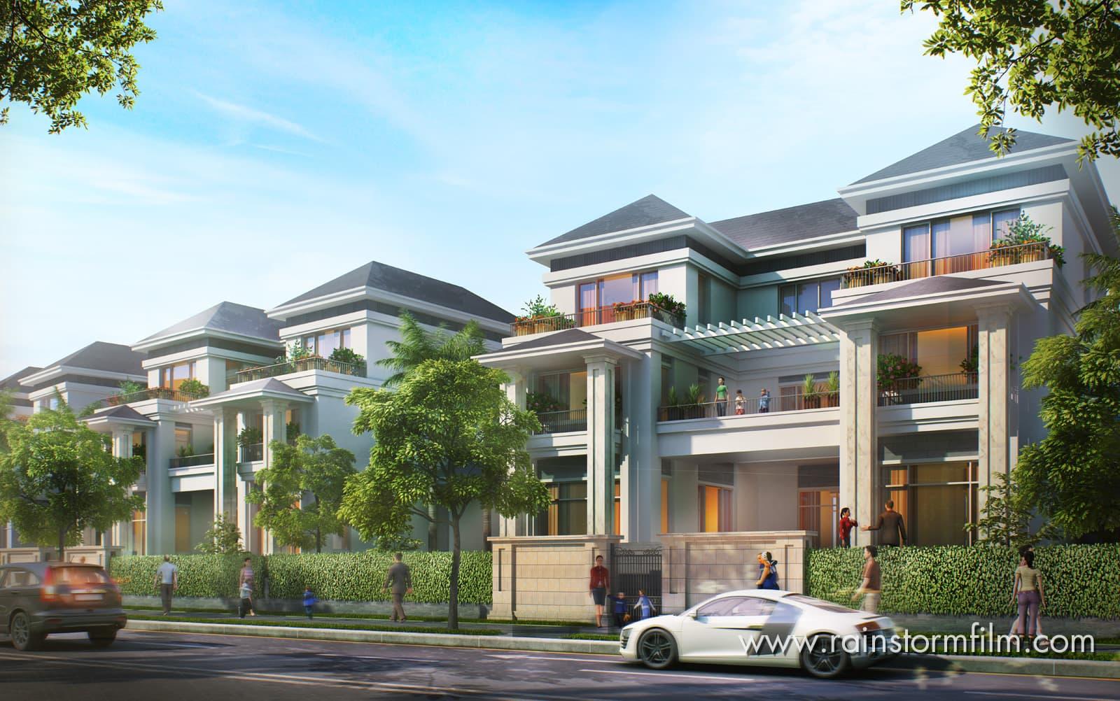 thiết kế phối cảnh dự án bất động sản